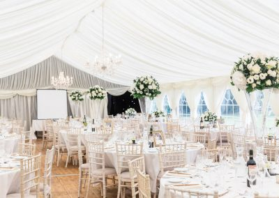 Gardens and Marquee at Sprivers