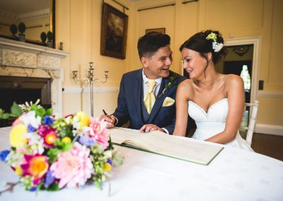 bridal couple at sprivers mansion - wedding venue in kent