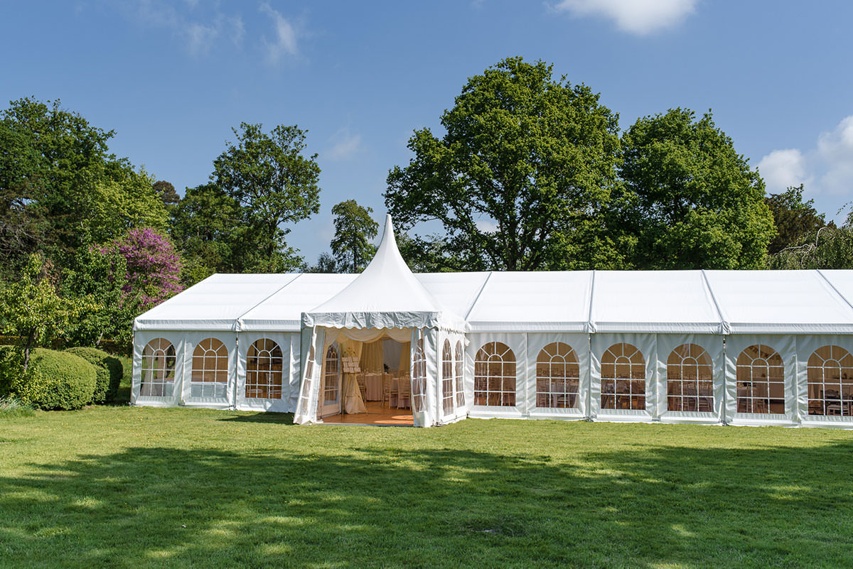 Gardens and Marquee at Sprivers the Rose Garden